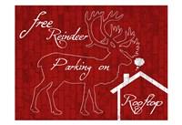 Free Reindeer Parking Fine-Art Print