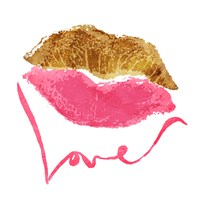 Love Lips White Fine-Art Print