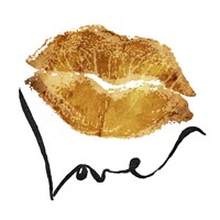 Love Lips Gold Fine-Art Print