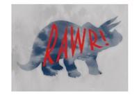 Dino Rawr Fine-Art Print