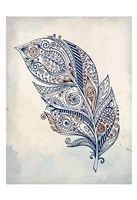 Feather Henna 1 Fine-Art Print