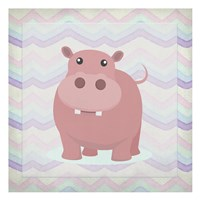Pink Hippo Time Fine-Art Print