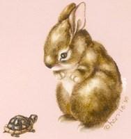 Bunny And Turtle Fine-Art Print