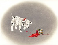 Dalmation 6- Caught Red Pawed Fine-Art Print