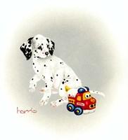 Dalmation 1 - Puppy Truck Fine-Art Print