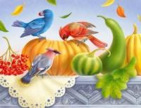 Birds And Pumpkins Fine-Art Print