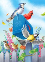 Birds And Mailbox Fine-Art Print