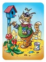 Cat A House Painter Fine-Art Print