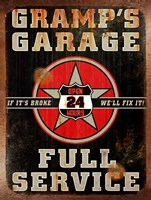 Gramps Garage Rusted Vertical Fine-Art Print