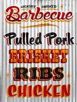 Barbeque Hickory Smoked Corregate Metal Fine-Art Print