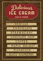 Ice Cream Board -Wood Fine-Art Print