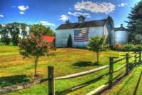 White Barn And Flag Fine-Art Print