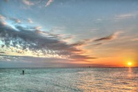 Key West Paddleboard Sunset Fine-Art Print