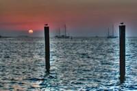 Key West Sunset Two Pilings Fine-Art Print