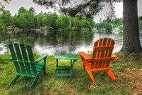 Lakeside Chairs Fine-Art Print