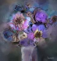 Blue Flowers Fine-Art Print