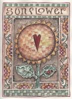 Sunflower with Heart Fine-Art Print