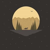 Fox Under the Stars Fine-Art Print