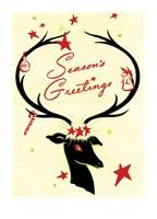 Holiday Reindeer & Sleigh Fine-Art Print