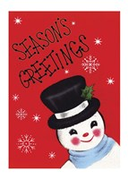 Holiday Sg Snowman Fine-Art Print