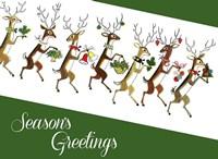 Line Of Reindeer Fine-Art Print