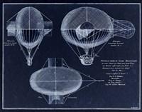 French Airship Balloon 1784 Fine-Art Print