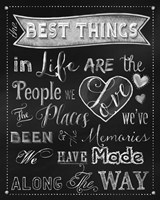 Best Things Chalkboard Fine-Art Print