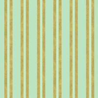 Golden Mint Stripes 2 Fine-Art Print