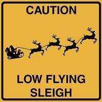 Low Flying Sleigh Fine-Art Print