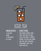 Iced Tea Recipe Gray Background Fine-Art Print