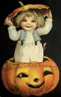 Halloween Pumpkin Head Child Fine-Art Print
