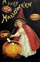 Little Red Halloween Witch Fine-Art Print