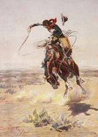 Charles Marion Russell - A Bad Hoss Fine-Art Print
