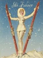Ski France Glam Fine-Art Print