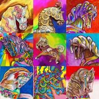 Carousel Ponies Fine-Art Print