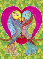 Lovebirds in Colour Fine-Art Print