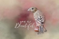 You Are Beautiful with words Fine-Art Print