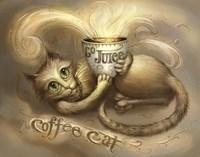 Coffee Cat Go Juice 2 Fine-Art Print