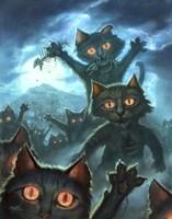 Zombie Cats Fine-Art Print