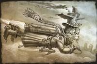 Steampunk Cat Rocketeer Fine-Art Print