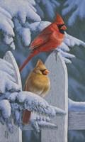 Snow Cardinals Fine-Art Print