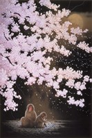 Falling Cherry Blossoms Fine-Art Print