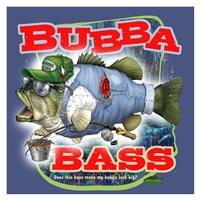 Bubba Bass - Blue Fine-Art Print