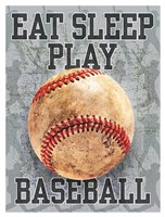 Eat Sleep Play Baseball Fine-Art Print