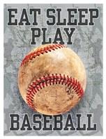 Eat Sleep Play Baseball Fine-Art Print