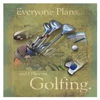 Golfing Fine-Art Print