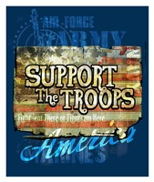 Support The Troops America Fine-Art Print