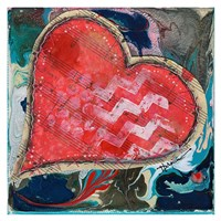 Stitched Red Heart II Fine-Art Print
