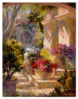 Flowered Courtyard Fine-Art Print