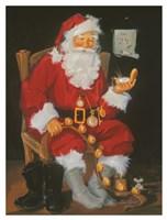 Santa In Chair Fine-Art Print